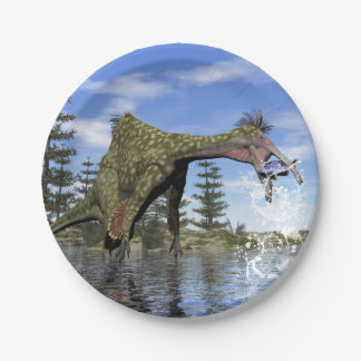 Pêche de dinosaure de Deinocheirus - 3D rendent Assiettes En Papier