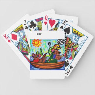 pêche de l'art d'ours jeux de cartes