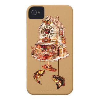Pêche de l'horloge de coucou de loge coques iPhone 4 Case-Mate