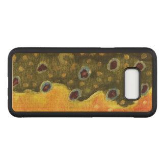 Pêche de mouche de peau de truite de Brown du Coque En Bois Samsung Galaxy S8 Plus