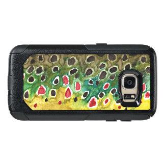 Pêche de mouche de peau de truite de Brown du Coque OtterBox Samsung Galaxy S7