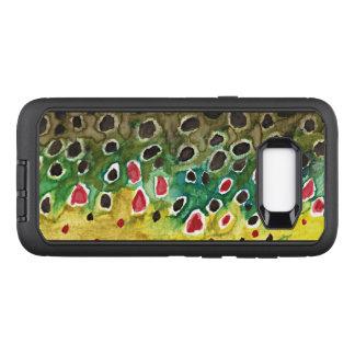Pêche de mouche de truite de Brown, ichtyologie Coque Samsung Galaxy S8+ Par OtterBox Defender