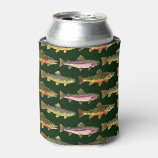 Pêche de truite arc-en-ciel rafraichisseur de cannettes