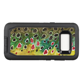 Pêche de truite de Brown, ichtyologie Coque Samsung Galaxy S8 Par OtterBox Defender