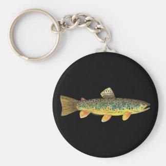 Pêche de truite de Brown Porte-clés