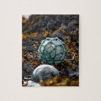 Pêche du flotteur dans la piscine de marée, puzzles