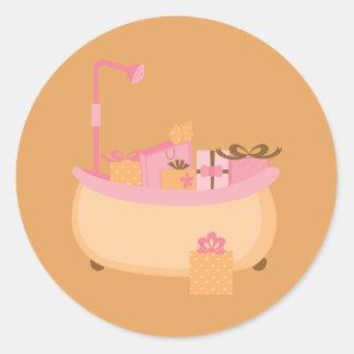 Pêche et autocollants roses de baquet