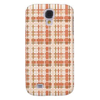 Pêche et caisse rose de l'iPhone 3G de plaid Coque Galaxy S4