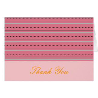 Pêche et carte de remerciements rose