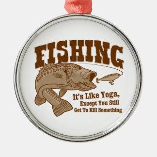 Pêche Il est comme le yoga à moins que vous tui Ornements De Noël