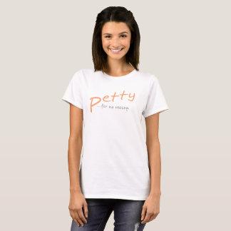 Pêche oblique petite de T-shirt