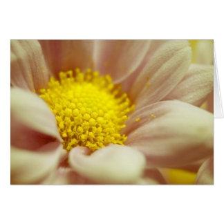 Pêche sensible et fleur jaune carte de vœux