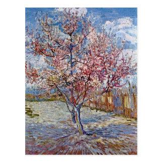 Pêcher rose dans la fleur par Van Gogh Carte Postale