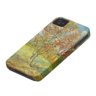 Pêcher rose de Van Gogh dans la fleur, beaux-arts Coques Case-Mate iPhone 4