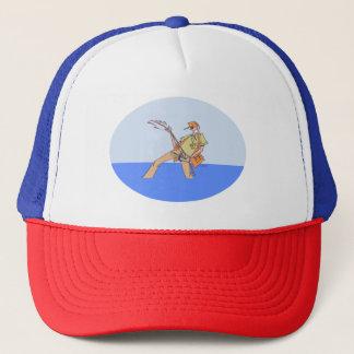 Pêcheur à l'intérieur de rwb de casquette de