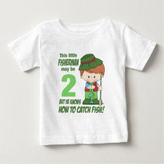 pêcheur de deux ans t-shirt pour bébé