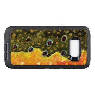 Pêcheur de mouche de truite de ruisseau, coque samsung galaxy s8+ par OtterBox defender