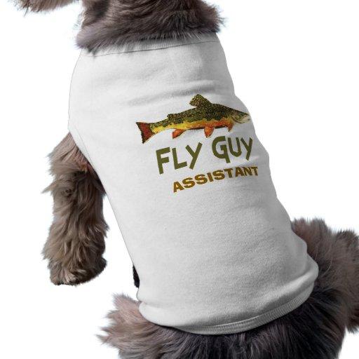 Pêcheur de mouche tee-shirt pour animal domestique