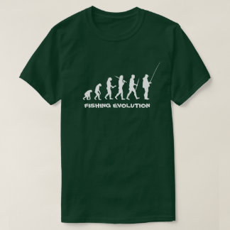 Pêcheur drôle d'évolution de pêche t-shirt