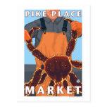Pêcheur limule - marché de place de Pike, Seattle Cartes Postales