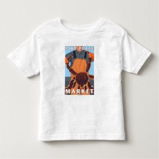 Pêcheur limule - marché de place de Pike, Seattle T-shirt Pour Les Tous Petits