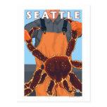 Pêcheur limule - Seattle, Washington Cartes Postales