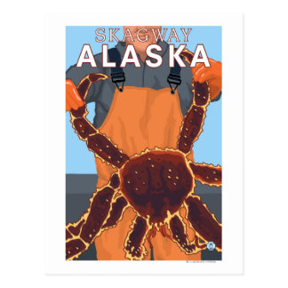 Pêcheur limule - Skagway, Alaska Carte Postale