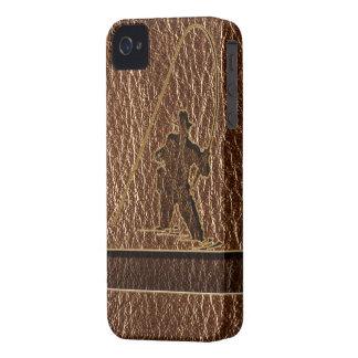 Pêcheur simili cuir coque iPhone 4