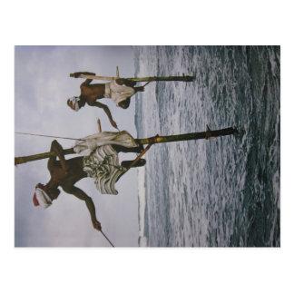 Pêcheur Sri de Lanka- carte postale