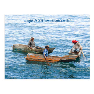 Pêcheurs de Lago Atitlan sur la carte postale de