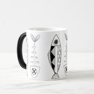 Pêchez le motif (noir), diverses couleurs Morphing Mug Magic