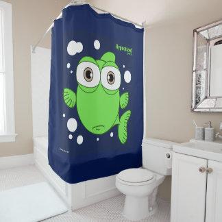 Pêchez (vert, bleu marine BG) le rideau en douche