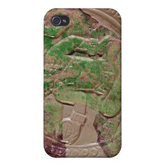 Pectoral d'un roi de site de Tikal, Guatemala Coque iPhone 4