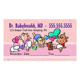 Pediatrician.Baby Doctor.Clinic.Appointment Carte De Visite Standard