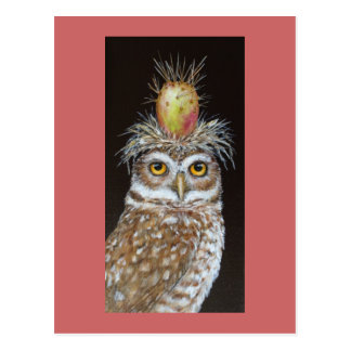 Pedro la carte postale creusante de hibou