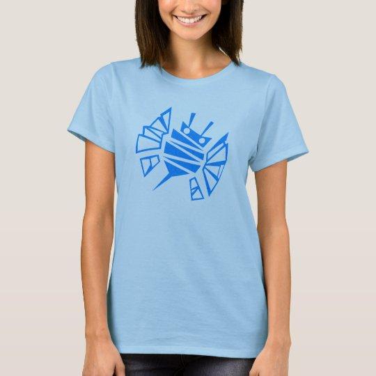 Peigne bleu de l'abeille de Persephone T-shirt