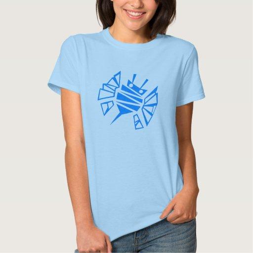 Peigne bleu de l'abeille de Persephone T-shirts