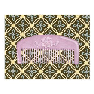 Peigne de lavande sur l'arrière - plan de chocolat carte postale