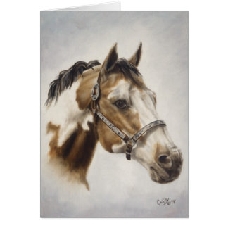 Peignez la carte de cheval