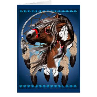 Peignez la carte de Dreamcatcher de cheval