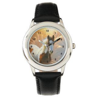 Peignez la montre d'enfants d'acier inoxydable de montres