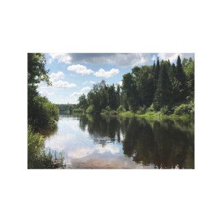 Peignez la rivière au Michigan sur la toile