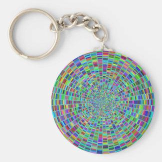 Peignez la roue de couleur de personnaliser de porte-clé rond
