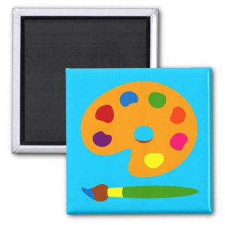 Peignez l'art de palette magnet carré