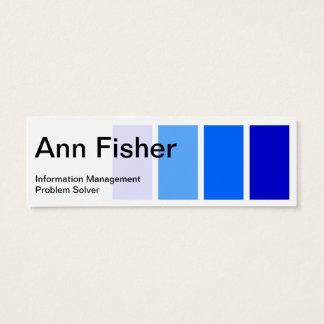 Peignez le carte de visite maigre bleu témoin