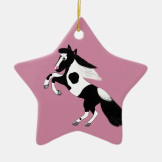 Peignez le cheval ornement étoile en céramique