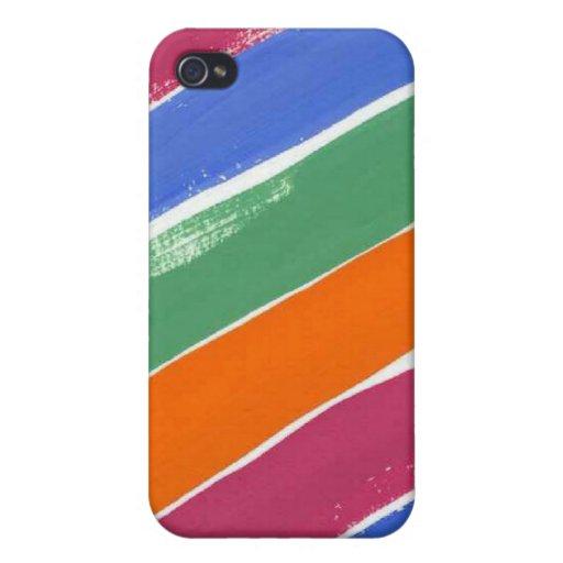 Peignez le coque iphone de couleurs étui iPhone 4