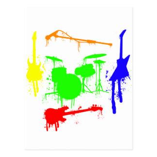 Peignez le graffiti de bande d'instruments de carte postale
