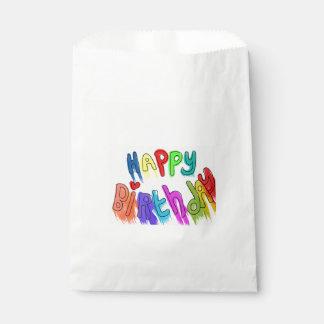 Peignez le joyeux anniversaire de égouttement sachets en papier