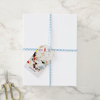 Peignez l'éclaboussure étiquettes-cadeau